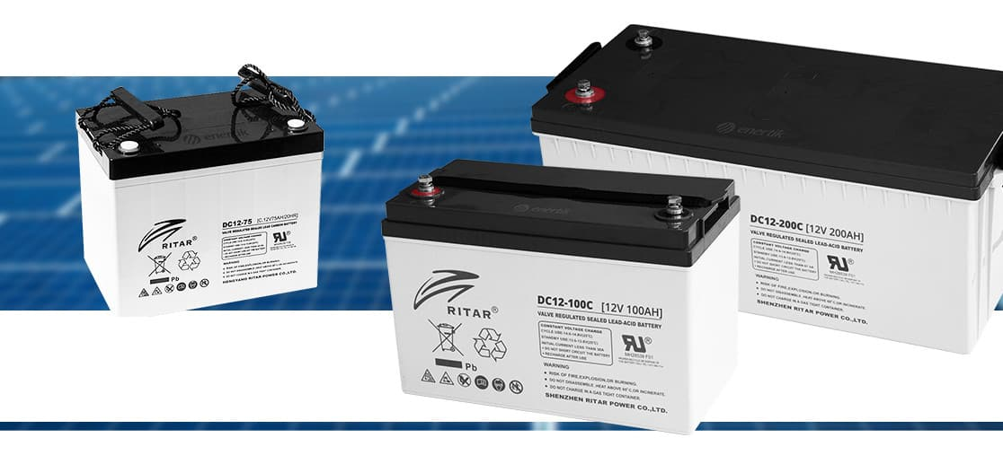 Baterías AGM plomo carbono Ritar